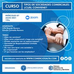 """CURSO """"TIPOS DE SOCIEDADES COMERCIALES: ¿CUAL CONVIENE?"""""""