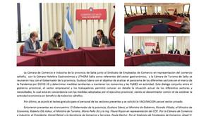 COMUNICADO: REUNIÓN CON EL GOBERNADOR DE LA PROVINCIA GUSTAVO SAENZ