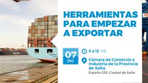Capacitación sobre herramientas para exportar desde Salta