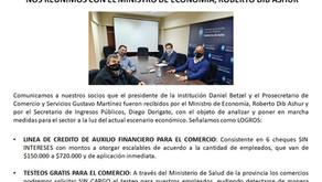 COMUNICADO: NOS REUNIMOS CON EL MINISTRO DE ECONOMÍA, ROBERTO DIB ASHUR