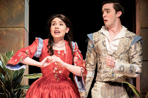 Clarice and Silvio react to the news of Clarice's betrothal to the newly-undead Federigo.