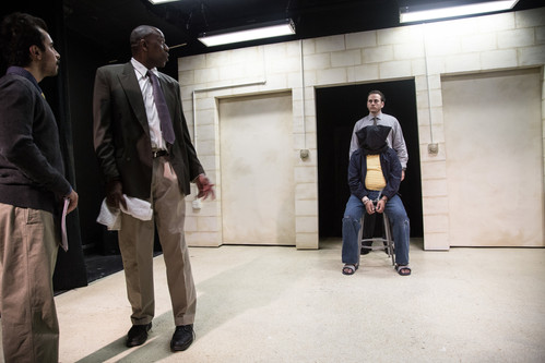 SALAR ARDEBILI, BRADFORD STEVENS, BILAL DARDAI, BASSAM ABDELFATTAH in Language Rooms at Broken Nose Theatre