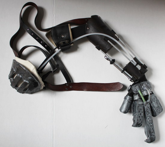 Character: Furiosa Film: Mad Max Fury Road Hand and arm rig fabricated from foam, leather, and metal by Annaliese Voci 2015