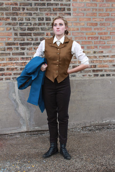 Character: Newt Scamander Film: Fantastic Beasts and Where to Find Them Coat, vest, and pants patterned and constructed by Annaliese Voci