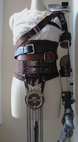 Character: Furiosa Film: Mad Max Fury Road Shirt and corset built by Annaliese Voci 2015