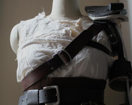 Character: Furiosa Film: Mad Max Fury Road Shirt and shoulder harness detail 2015