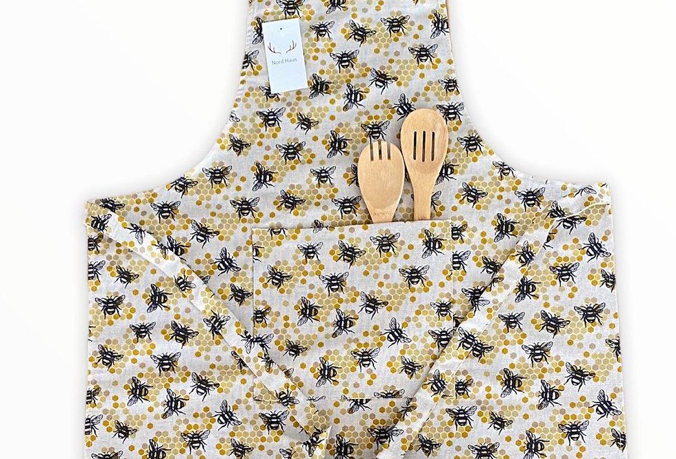 Honey Bee Linen Blend Apron