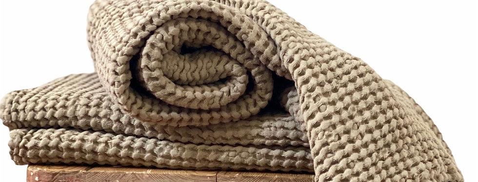 Sand Linen Waffle Spa Towel