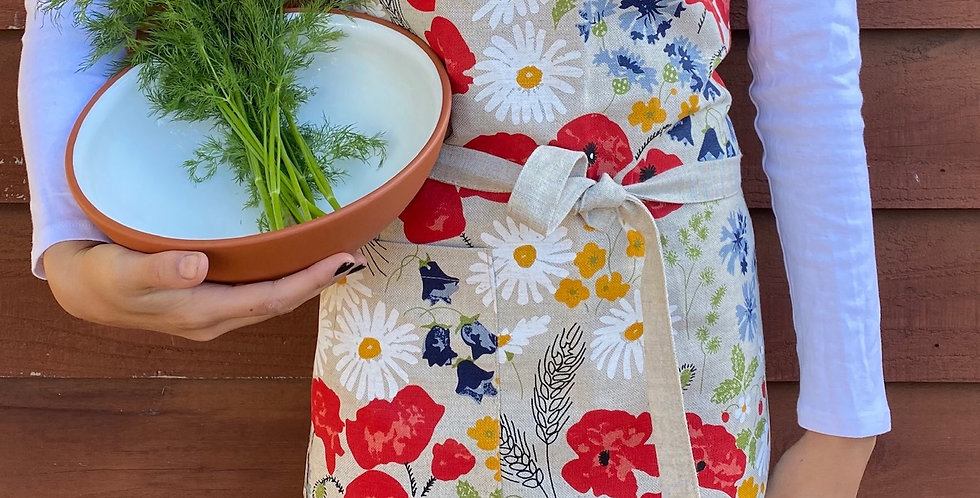 Wildflower Linen Blend Apron