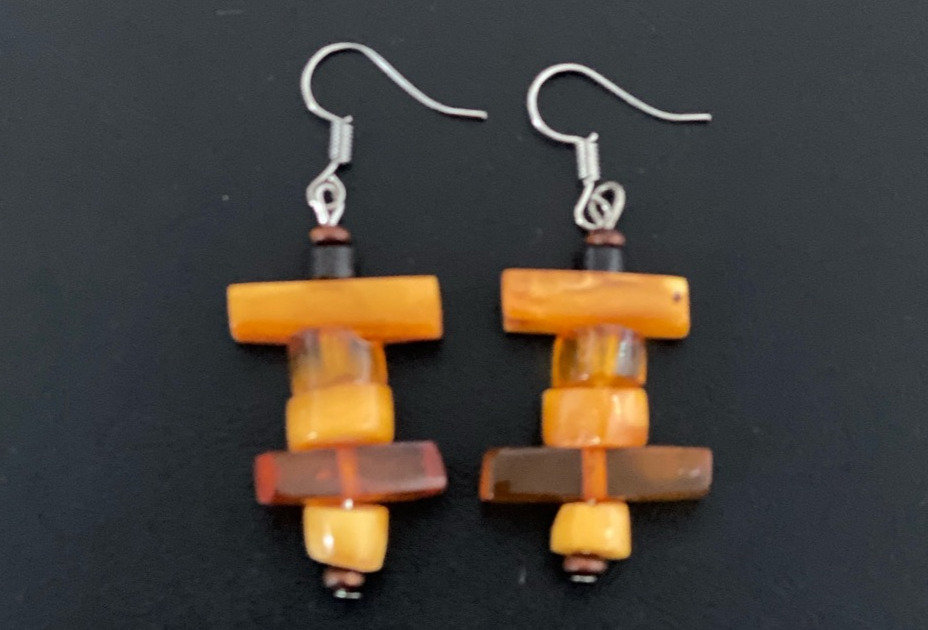 Amber Earrings -Style E