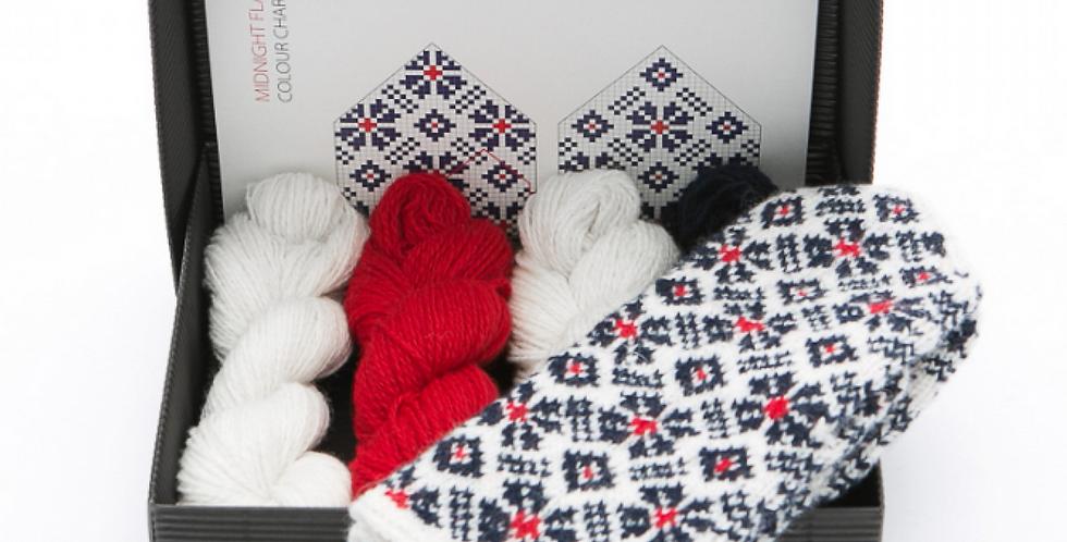 MIDNIGHT SUN  - Mitten Knitting Kit