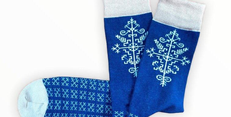 AUSTRA TREE  socks -blue