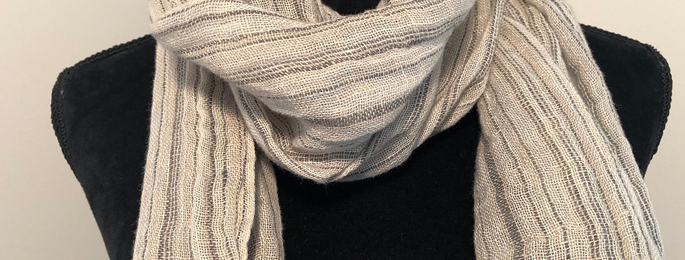Striped Linen Scarf