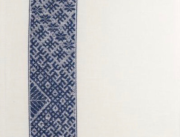 LIELVARDE double stripe blue tea towel