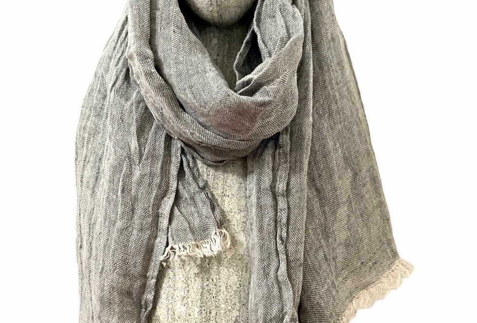 Stone grey Linen Scarf