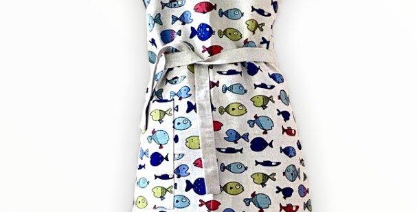 Fish Linen Blend Apron