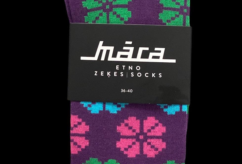 Purple Meadow socks by Māra