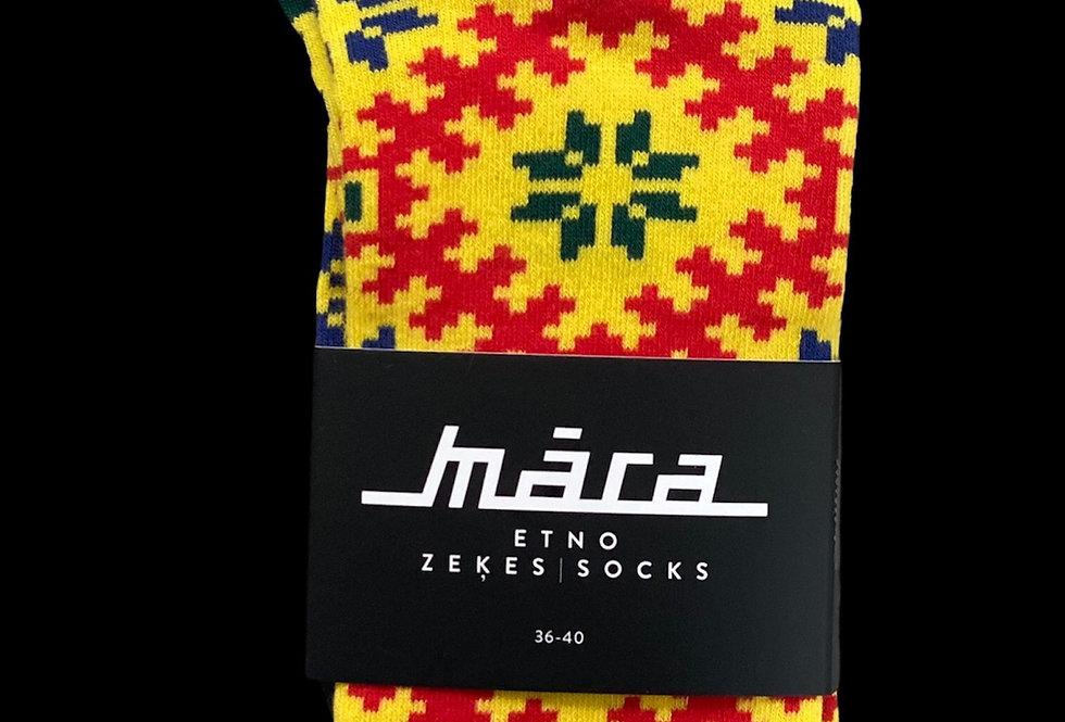 Yellow Fields socks by Māra