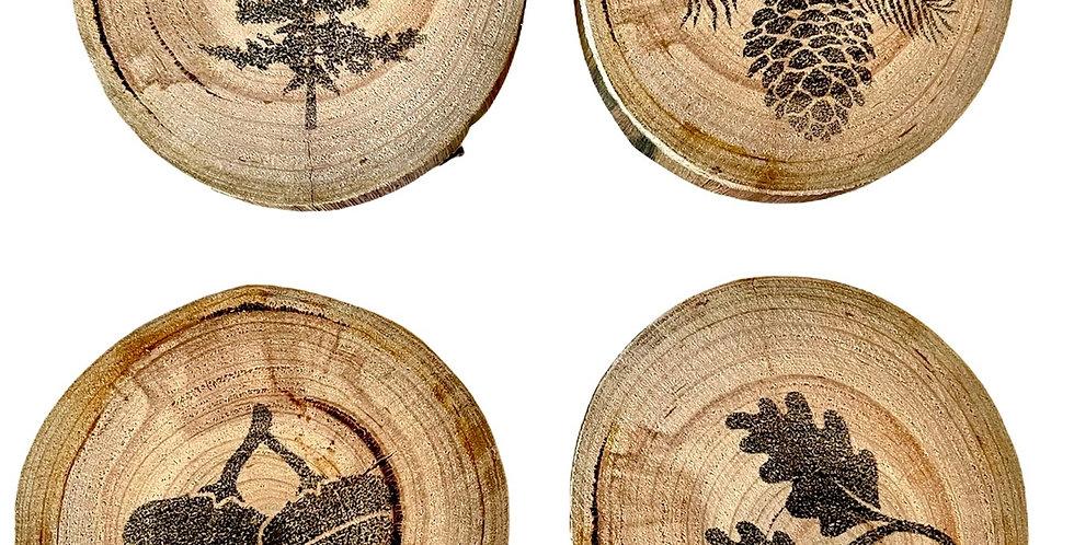 Nordic Tree Coaster Set