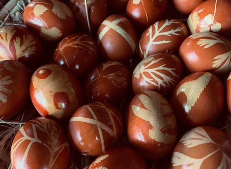 Traditional Latvian Easter Egg Colouring.