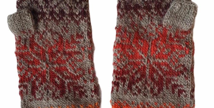 Woollen Fingerless Mittens Style A