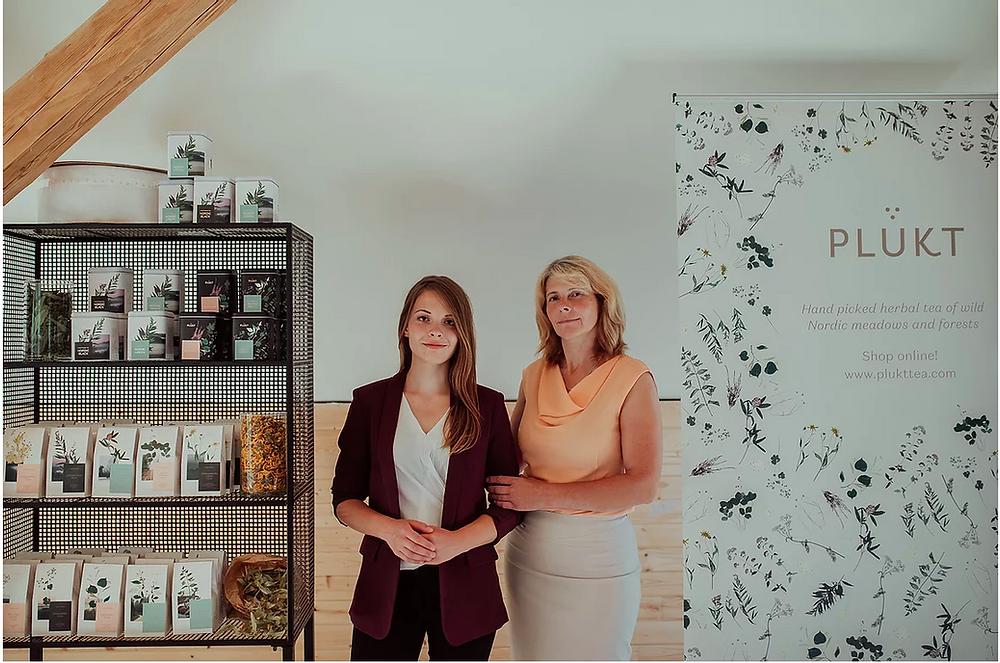 Mara Lieplapa and Liga Lieplapa, PLUKT Tea unders, EU Certified Organic Tea, Natural Herbal Tea