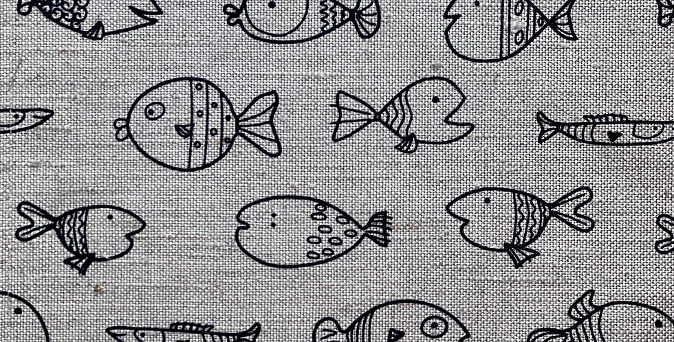 Black Fish tea towel