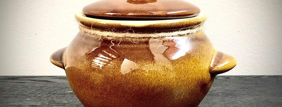 Brown Ceramic Pot with Lid