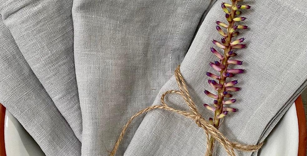 Pearl Grey Linen Napkins