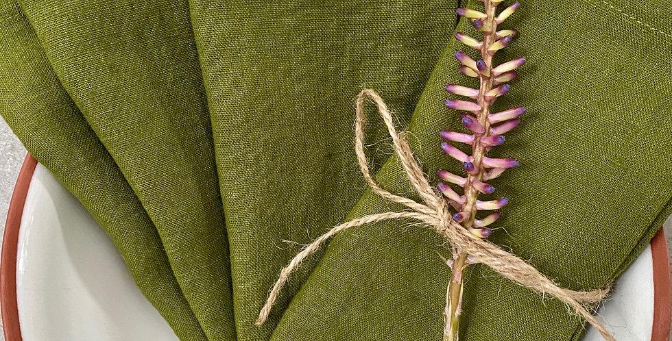 Moss Green Linen Napkins