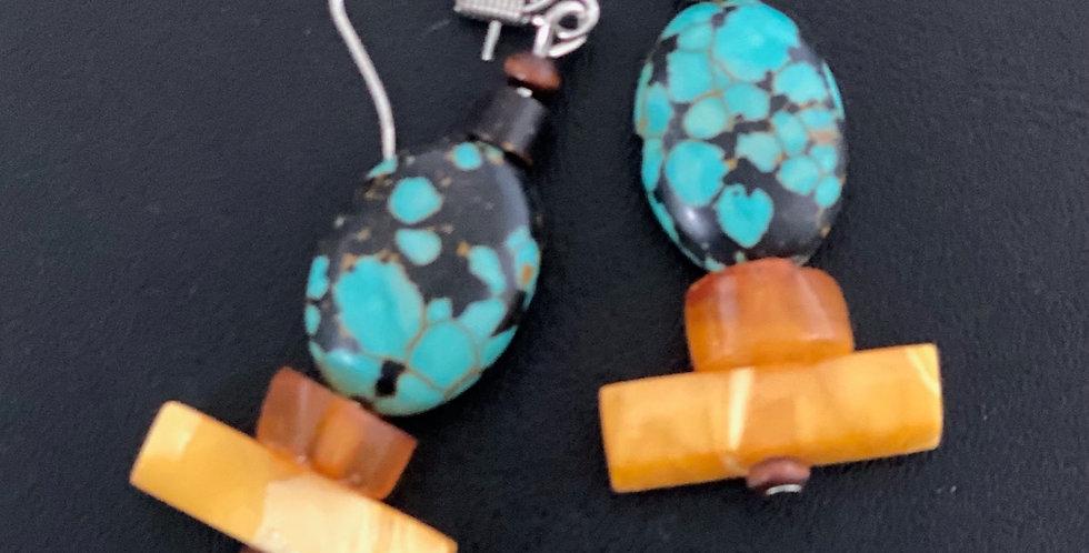 Amber Earrings -Style D