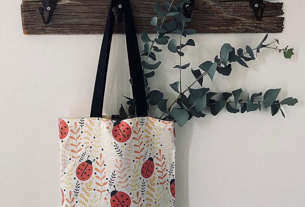 Ladybird linen tote