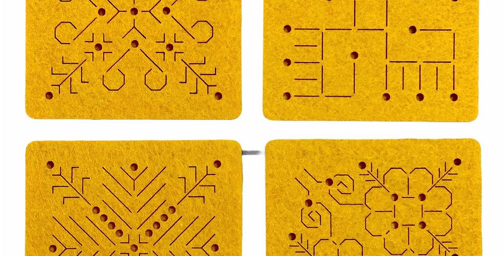 Yellow Felt Coasters