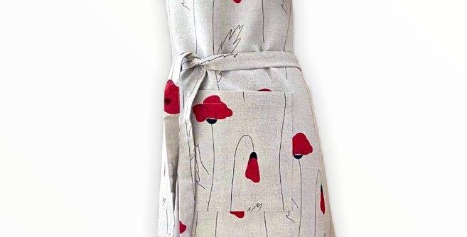 Poppy Linen Blend Apron