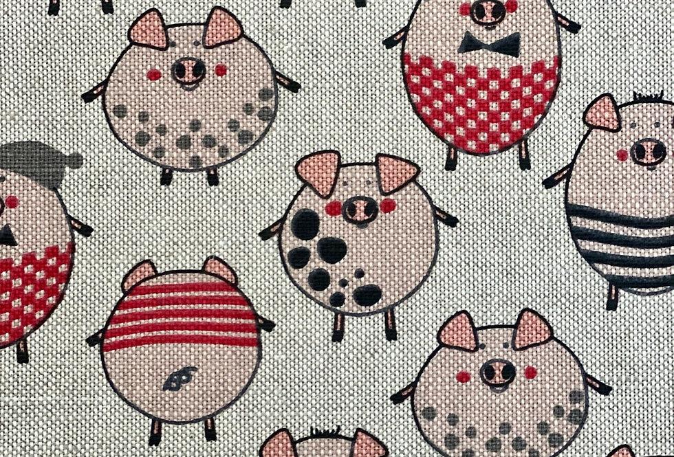 Little Piggy Tea Towel