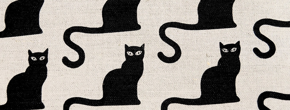 Black Cats Tea Towel