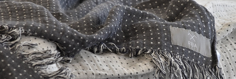Spotted Linen Throw Blanket