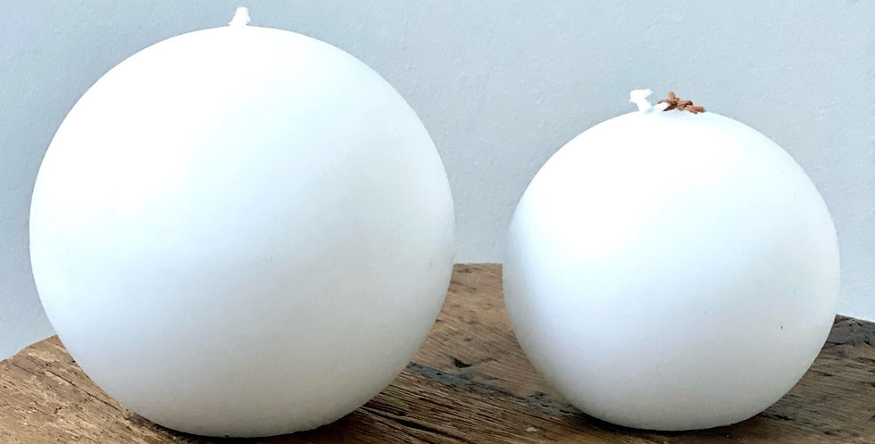 White Matt Ball Candles