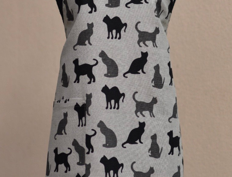 Shadow Cats Linen Blend Apron