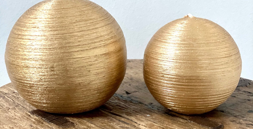 Gold Bauble Candles
