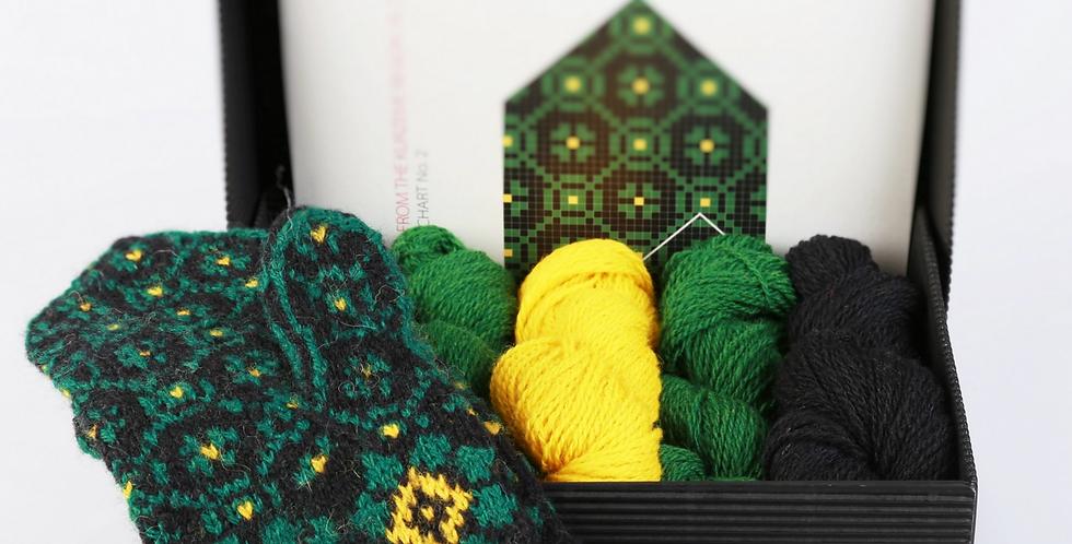 KURZEME GREEN - Mitten Knitting Kit