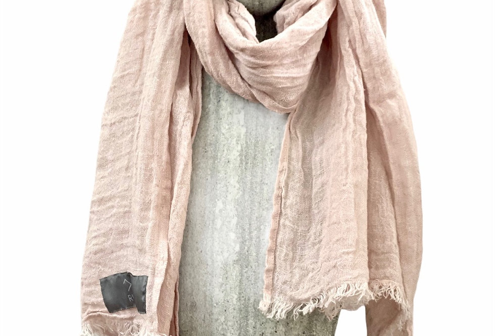 Soft Pink Linen Scarf