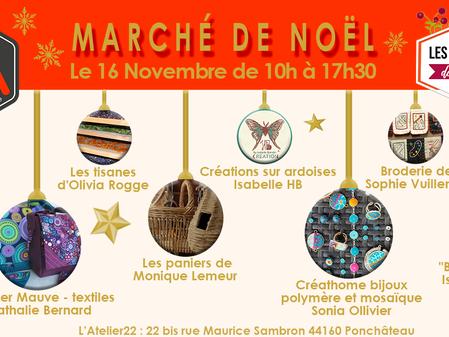 """Marché de Noël avec """"Les Artisans du coin"""" !"""