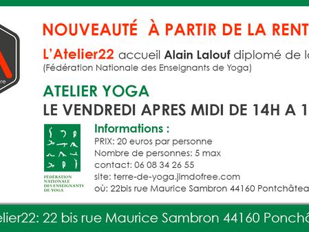 Du yoga à L'Atelier22 !