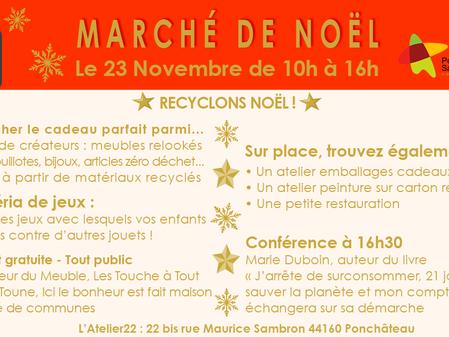 Recyclons Noël ! Marché de Noël à L'Atelier22