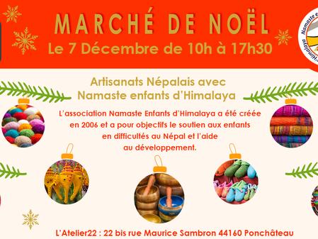 Marché de Noël Namaste - samedi 7 décembre