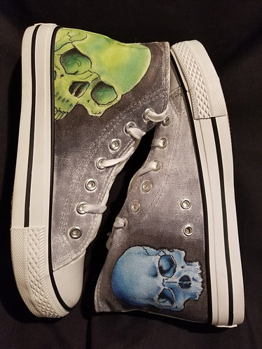 Blue and Green Skulls Size 39
