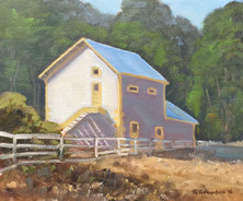 Yellow and White Barn - Christie Ranch