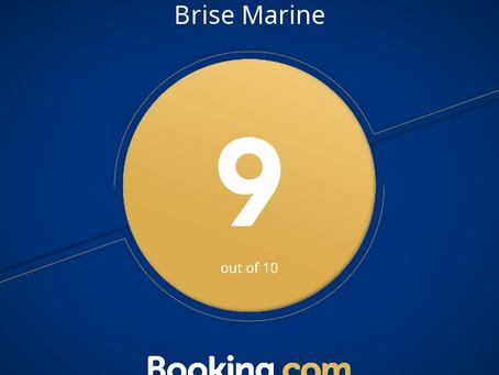 Brise Marine a reçu un Guest Review Award pour 2017 !