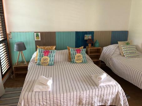 Nouvelle décoration d'un bungalow 5 personnes à l'hôtel Brise Marine de Sainte-Luce.